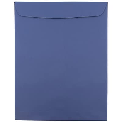 JAM Paper® 10 x 13 Open End Catalog Envelopes, Presidential Blue, 25/pack (263919489)