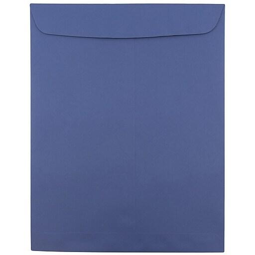 JAM Paper® 10 x 13 Open End Catalog Envelopes, Presidential Blue, Bulk 1000/Carton (263919489C)
