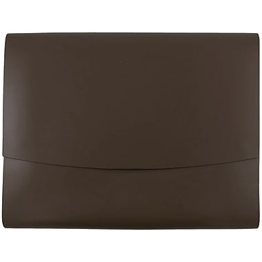 JAM Paper® Italian Leather Portfolio With Snap Closure, 10.5 x 13 x 0.75, Dark Brown, Sold Individually (2233317451)