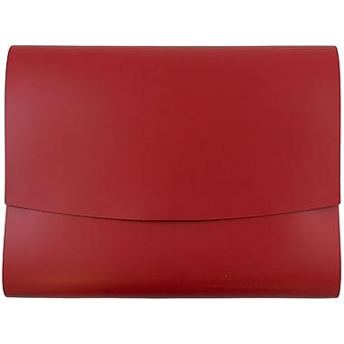 JAM Paper® Italian Leather Portfolio With Snap Closure, 10.5 x 13 x 0.75, Red, 12/carton (2233317453B)