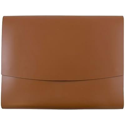JAM Paper® Italian Leather Portfolio With Snap Closure, 10.5 x 13 x 0.75, Brown, 12/carton (2233320843B)
