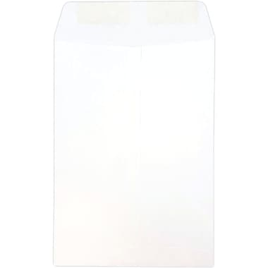 JAM Paper® 7.5 x 10.5 Open End Envelopes, White, 1000/carton (4120B)