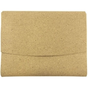 JAM Paper® Italian Leather Portfolio With Snap Closure, 10.5 x 13 x 0.75, Cork, Sold Individually (233327625)