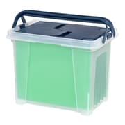Iris® Portable Wing Lid Plastic File Box