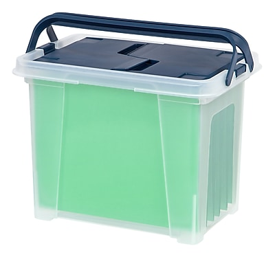 IRIS® Portable Wing Lid File Box (111125)
