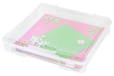 IRIS® 12x12 Scrapbook Storage Case, Clear, 6 Pack (150791)