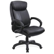 OfficeSource Sierra Series Leather Executive Office Chair, Fixed Arms, Black (10311BLK)