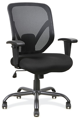 OfficeSource Becker Fabric Executive Office Chair, Adjustable Arms, Black (11701BLK) 1928964