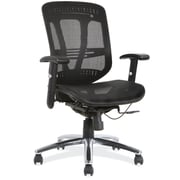 OfficeSource Engage Fabric Managers Office Chair, Adjustable Arms, Black (18921BLK)