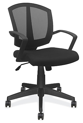 OfficeSource 201BLK Sprint Series Task Chair With Arms, Black Frame