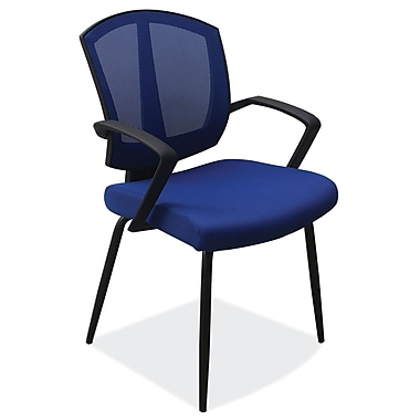 OfficeSource Sprint Series Fabric Conference Office Chair, Fixed Arms, Black (204BLU)