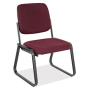 OfficeSource Guest Series Fabric Conference Office Chair, Armless, Red (2709PORT)