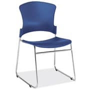 OfficeSource Stacked Series Stackable Side Chair (3050BLU)