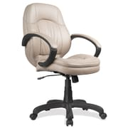 OfficeSource Prudential Series Fabric Executive Office Chair, Fixed Arms, Brown (5021TAU)