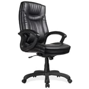 OfficeSource Whistler Series Fabric Executive Office Chair, Fixed Arms, Black (7111BLK) by