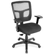 OfficeSource CoolMesh Series Fabric Managers Office Chair, Fixed Arms, Black (7621AABLK)