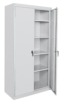 OfficeSource Deluxe Storage Cabinets Series 4-Adjustable-Shelf Cabinet (8036GRY)