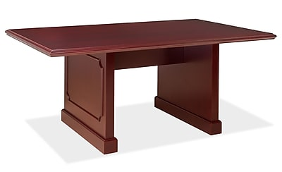 OfficeSource OS900 Traditional 96'' Rectangular Conference Table, Mahogany (910MH)