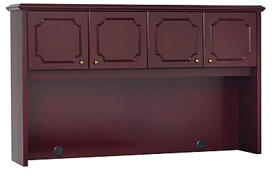 OfficeSource OS900 Traditional Collection Mahogany Hutch With Doors