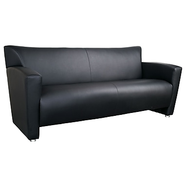 OfficeSource Tribeca Series, Sofa, Black