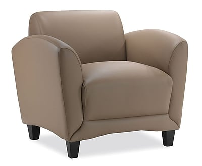 OfficeSource Manhattan Series, Club Chair, Latte LeatherTek