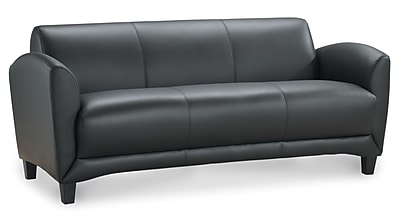 OfficeSource Manhattan Series, Sofa, Black