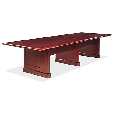 OfficeSource OS900 Traditional 120'' Rectangular Conference Table, Mahogany (996MH)