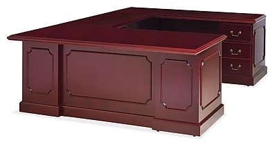 OfficeSource OS900 Traditional Collection, U-Shaped Workstation