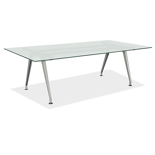 OfficeSource Rectangular Conference Table Frosted Glass - Office source conference table