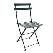 Furniture Designhouse French Bistro European Cafe Folding Patio Dining Chair (Set of 2); Black Green