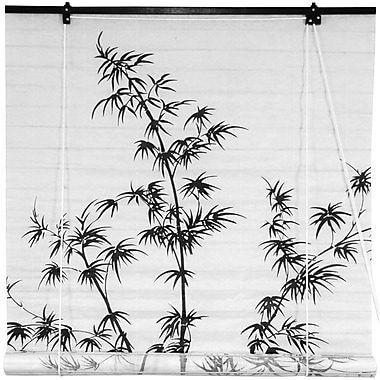 Oriental Furniture Bamboo Tree Shoji Rice Paper Roller Blind; 48'' W x 72'' L