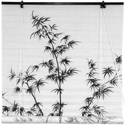 Oriental Furniture Bamboo Tree Shoji Rice Paper Roller Blind; 48'' W x 72'' L