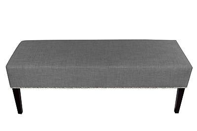 MJLFurniture Roxanne Upholstered Bench; Dark Gray