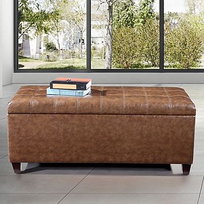 NOYA USA Classic Storage Bench; Rustic Tan