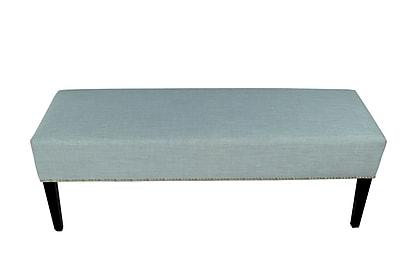 MJLFurniture Roxanne Upholstered Bench; Sea Mist Green