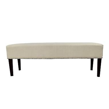 MJLFurniture Roxanne Upholstered Bench; Beige