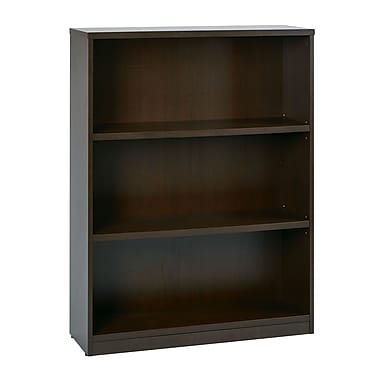 Office Star 3-Shelf Laminate Bookcase, Espresso