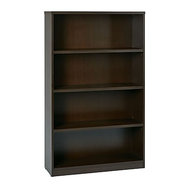 Office Star 4-Shelf Laminate Bookcase, Espresso