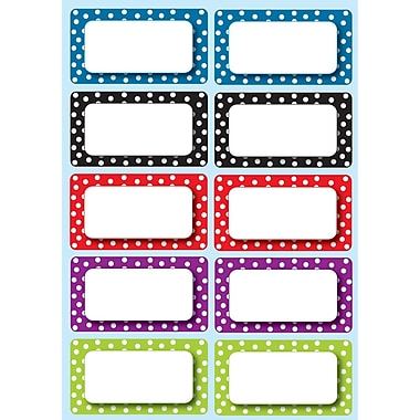 Ashley Die Cut Magnet Nameplates, Color Dots, 40/Pack (ASH10118)