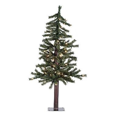 Vickerman Natural Alpine Christmas Tree w/ Clear Lights; 36''
