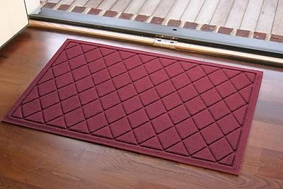 Bungalow Flooring Aqua Shield Argyle Doormat; Bordeaux