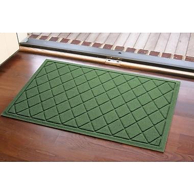 Bungalow Flooring Aqua Shield Argyle Doormat; Light Green