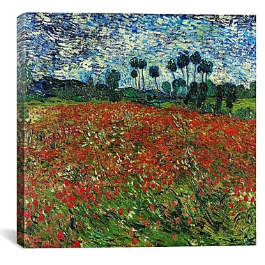 iCanvas ''Poppy Field'' by Vincent van Gogh Painting Print on Canvas; 26'' H x 26'' W x 1.5'' D