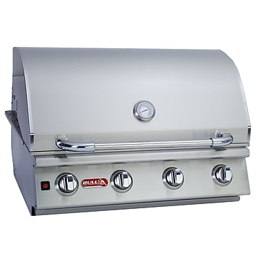 Bull Outdoor Lonestar 4-Burner Built-In Propane Gas Grill; Natural Gas
