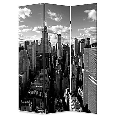 Screen Gems 72'' x 48'' New York Skyline 3 Panel Room Divider