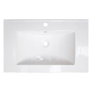 American Imaginations Vee Single Handle 30'' Single Bathroom Vanity Top
