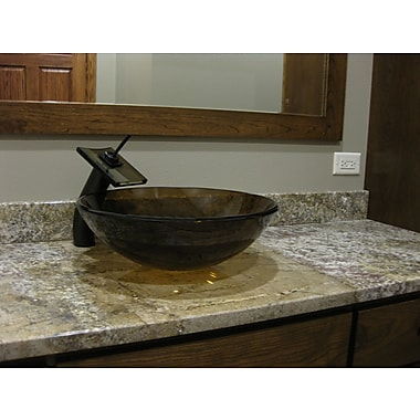 Novatto Ty Glass Circular Vessel Bathroom Sink