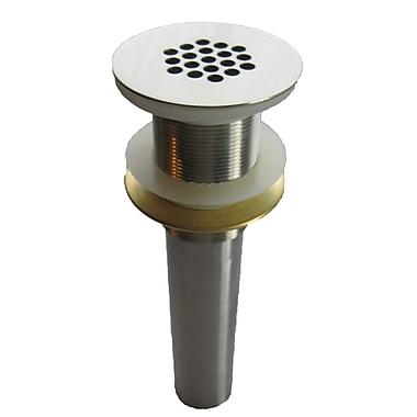 Novatto Strainer Vessel Sink 2.375'' Vessel Sink Grid Drain; Brushed Nickel