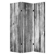 Screen Gems 72'' X 48'' Distressed Wood Canvas 3 Panel Room Divider
