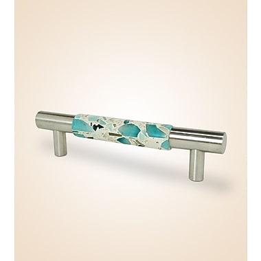 Vetrazzo Vetrazzo 5'' Center Contemporary Bar Pull; Polished Chrome